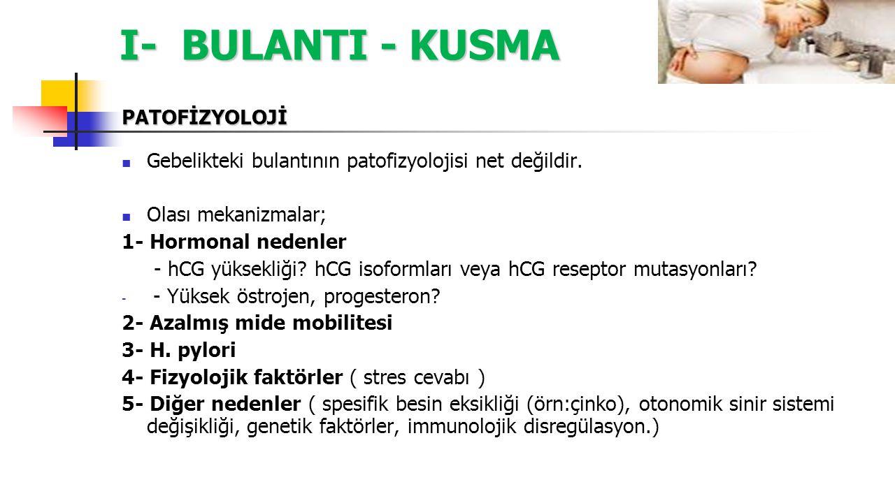 I- BULANTI - KUSMA PATOFİZYOLOJİ