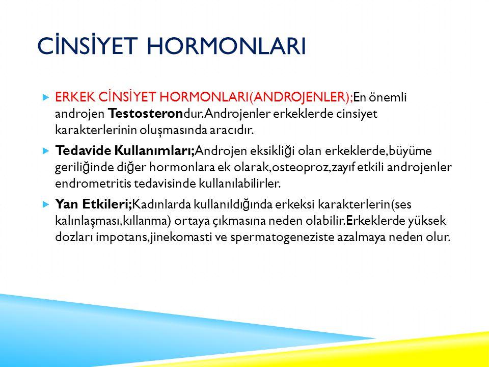 CİNSİYET HORMONLARI