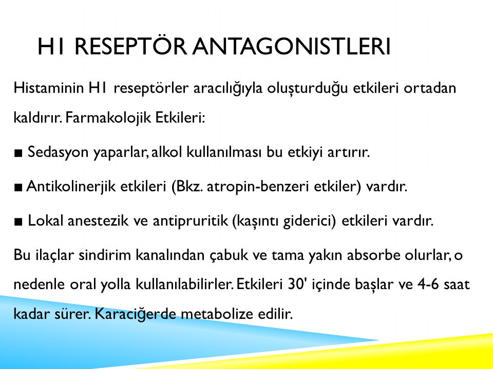 H1 Reseptör Antagonistleri