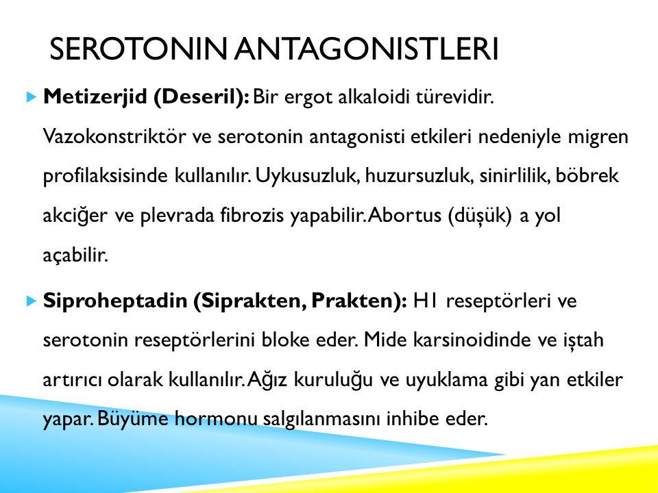 Serotonin Antagonistleri