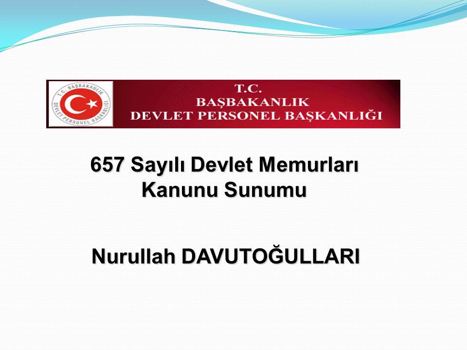 657 Sayılı Devlet Memurları