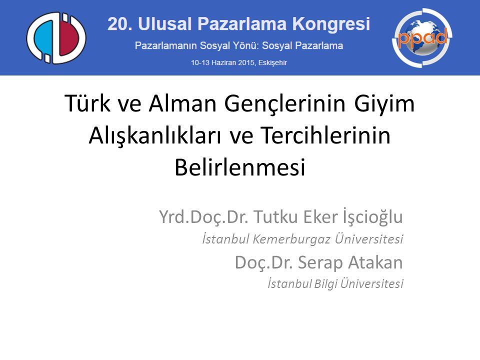 Türk ve Alman Gençlerinin Giyim Alışkanlıkları ve Tercihlerinin Belirlenmesi