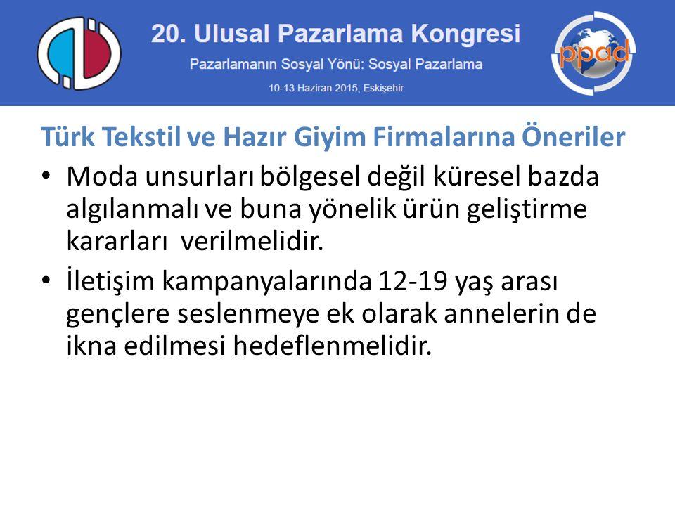 Türk Tekstil ve Hazır Giyim Firmalarına Öneriler