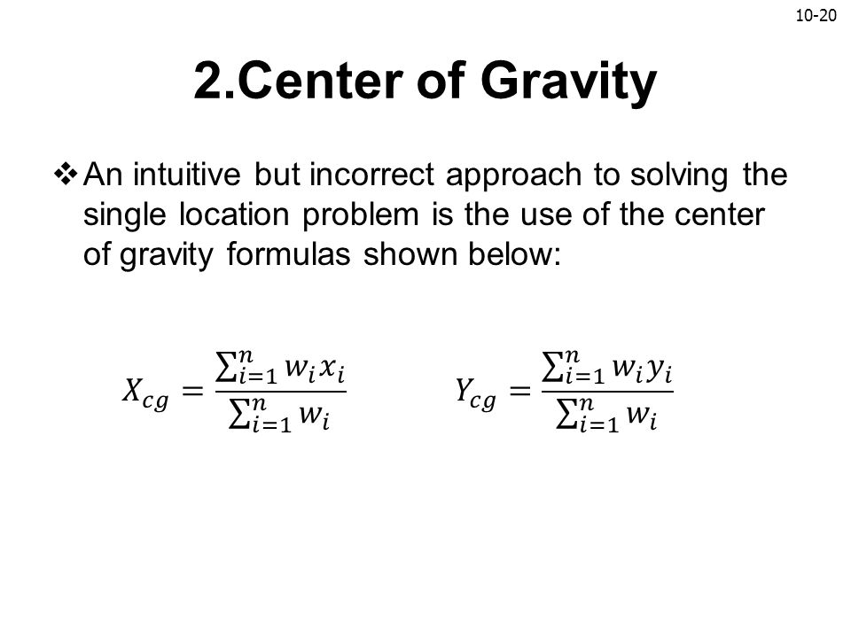 2.Center of Gravity