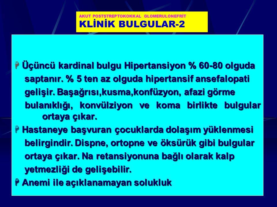 AKUT POSTSTREPTOKOKKAL GLOMERULONEFRİT KLİNİK BULGULAR-2