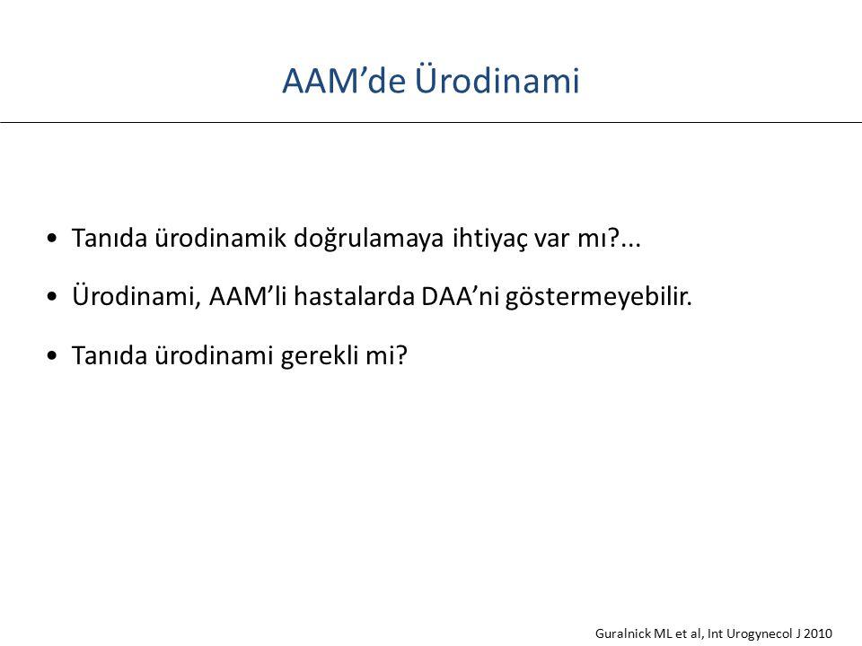 AAM'de Ürodinami Tanıda ürodinamik doğrulamaya ihtiyaç var mı ...