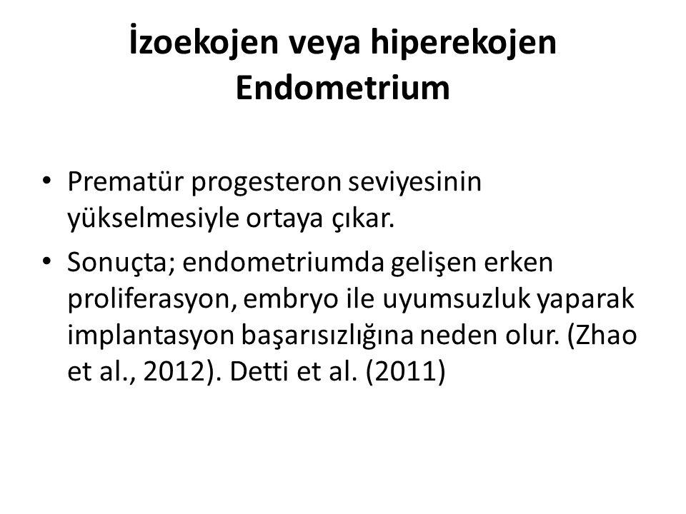 İzoekojen veya hiperekojen Endometrium