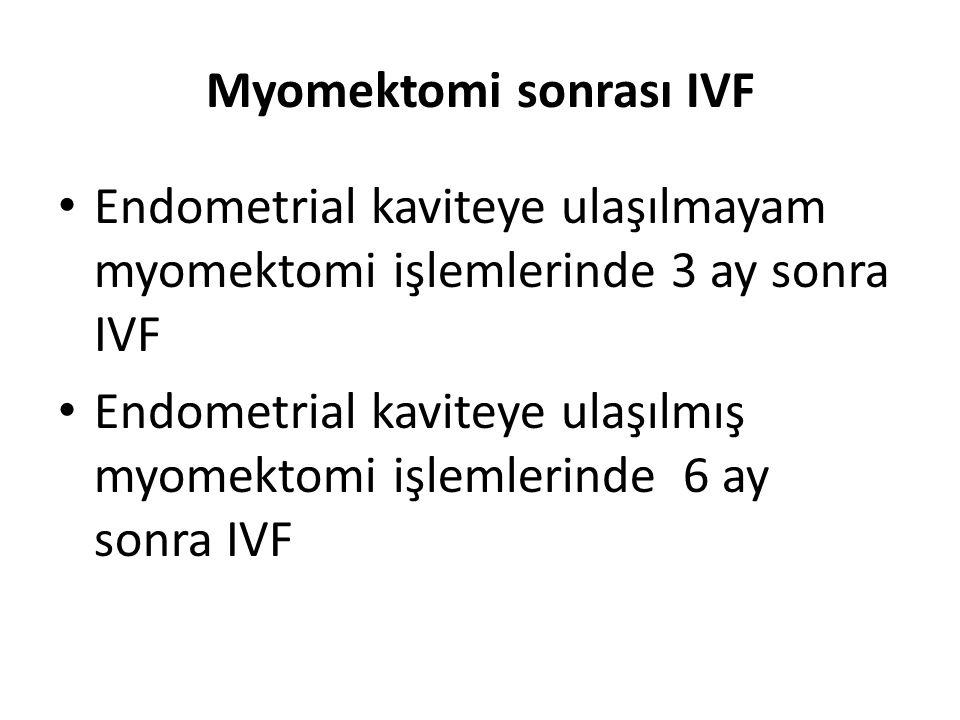 Myomektomi sonrası IVF