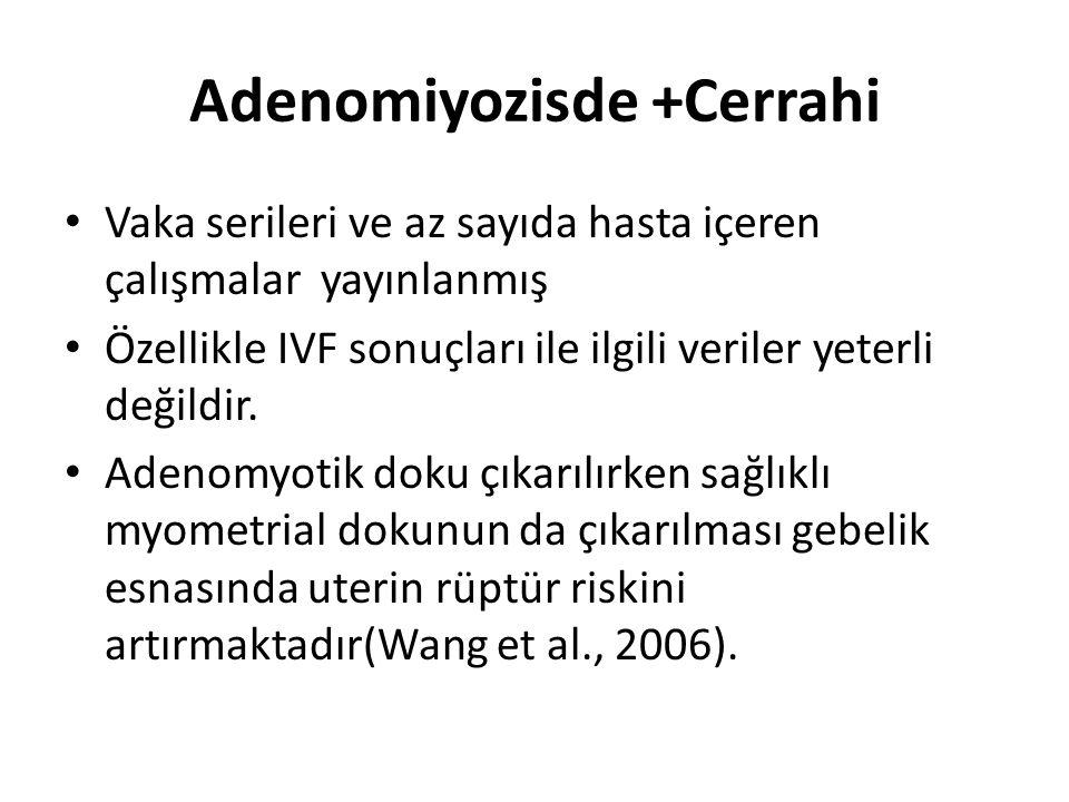 Adenomiyozisde +Cerrahi