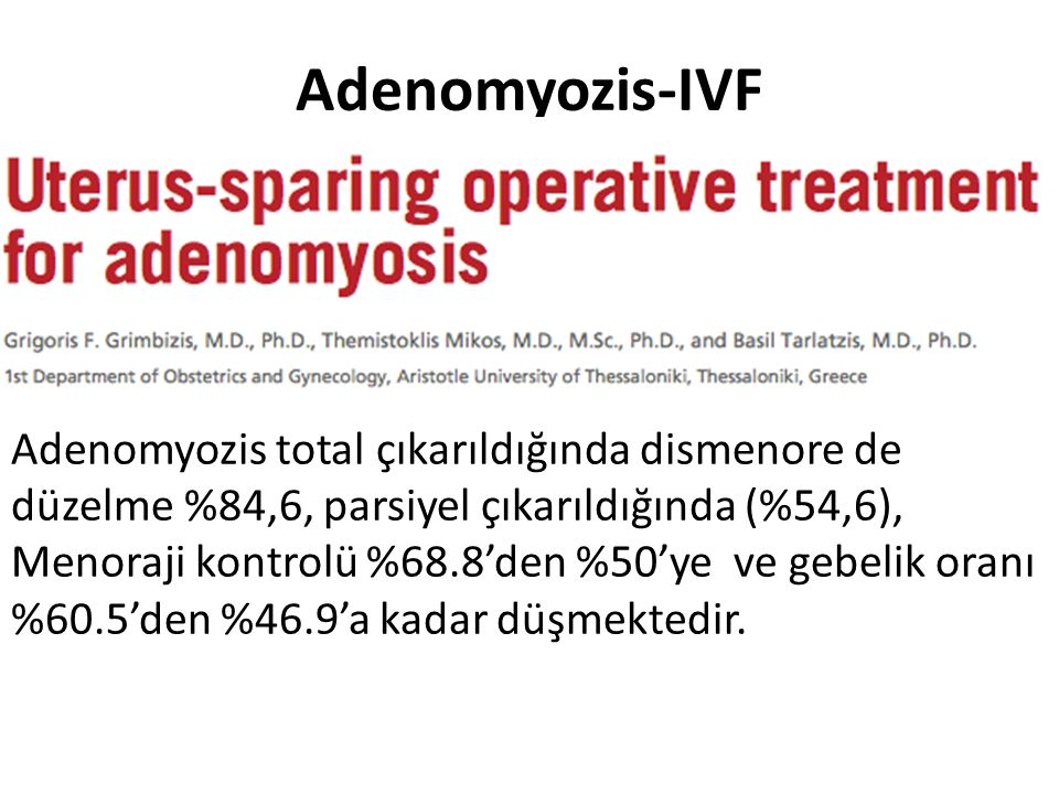 Adenomyozis-IVF