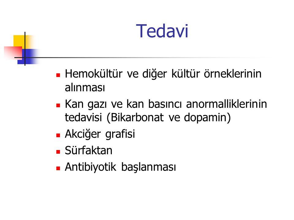 Tedavi Hemokültür ve diğer kültür örneklerinin alınması