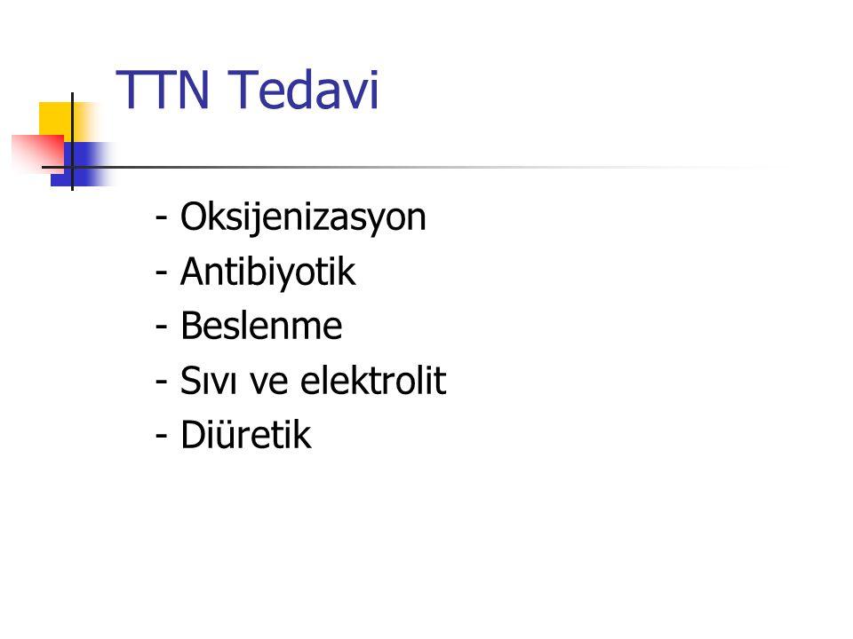 TTN Tedavi - Oksijenizasyon - Antibiyotik - Beslenme