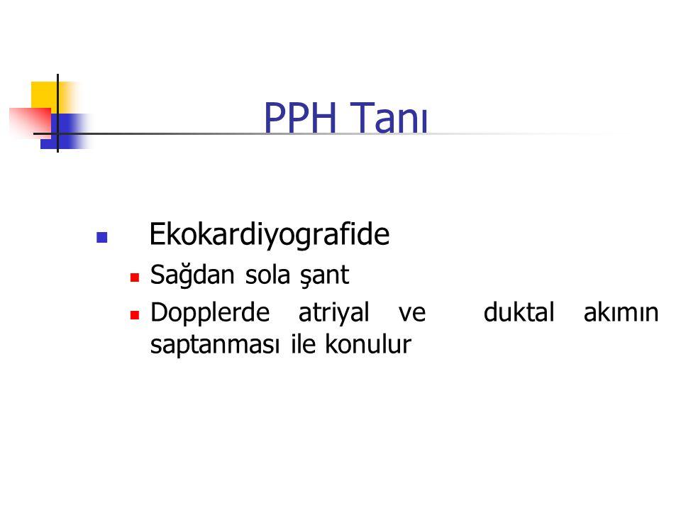 PPH Tanı Ekokardiyografide Sağdan sola şant