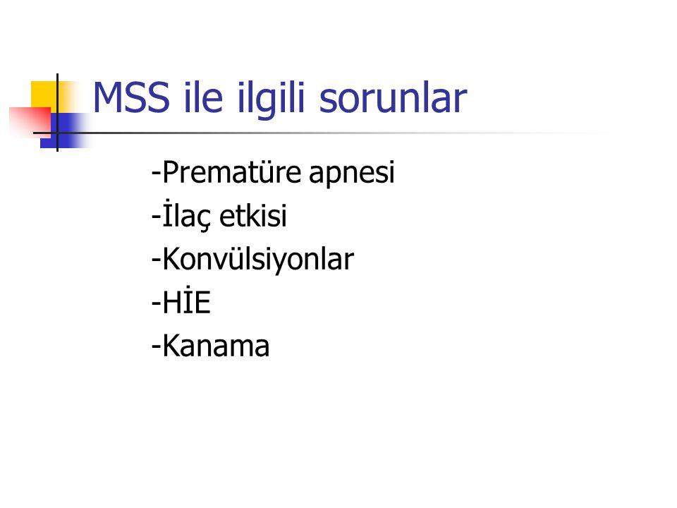 MSS ile ilgili sorunlar
