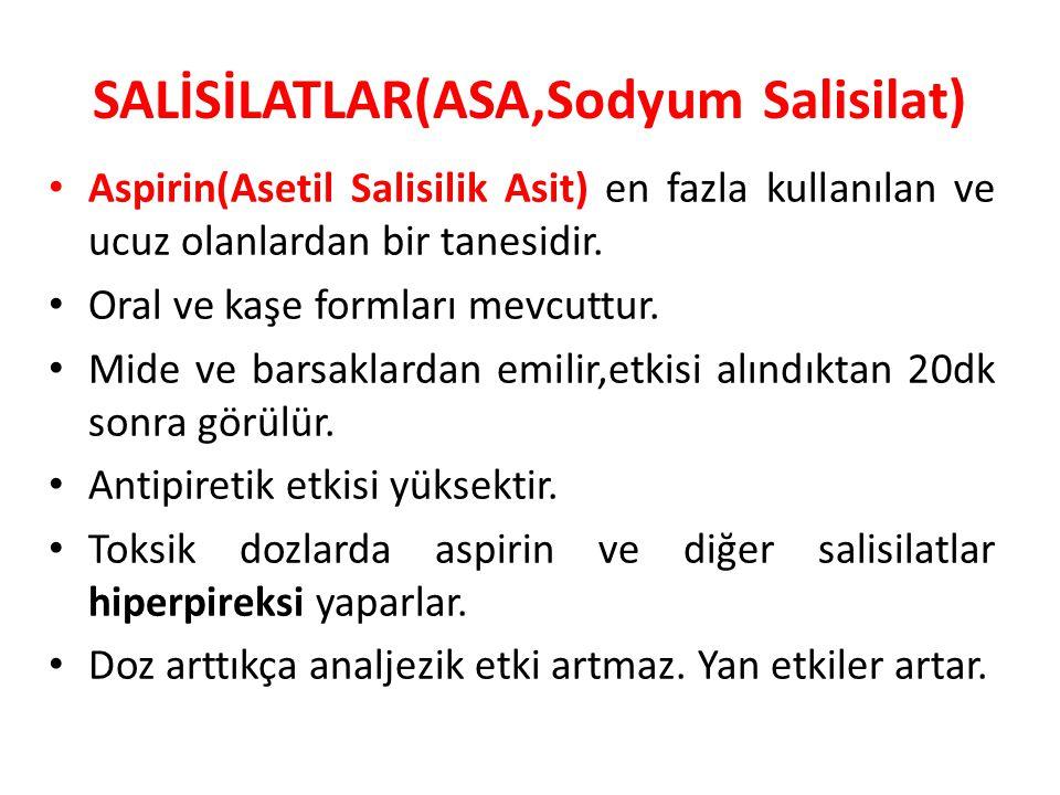 SALİSİLATLAR(ASA,Sodyum Salisilat)