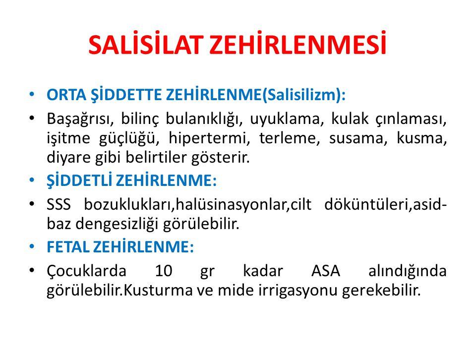 SALİSİLAT ZEHİRLENMESİ