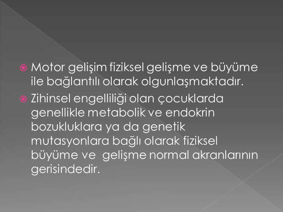 Motor gelişim fiziksel gelişme ve büyüme ile bağlantılı olarak olgunlaşmaktadır.