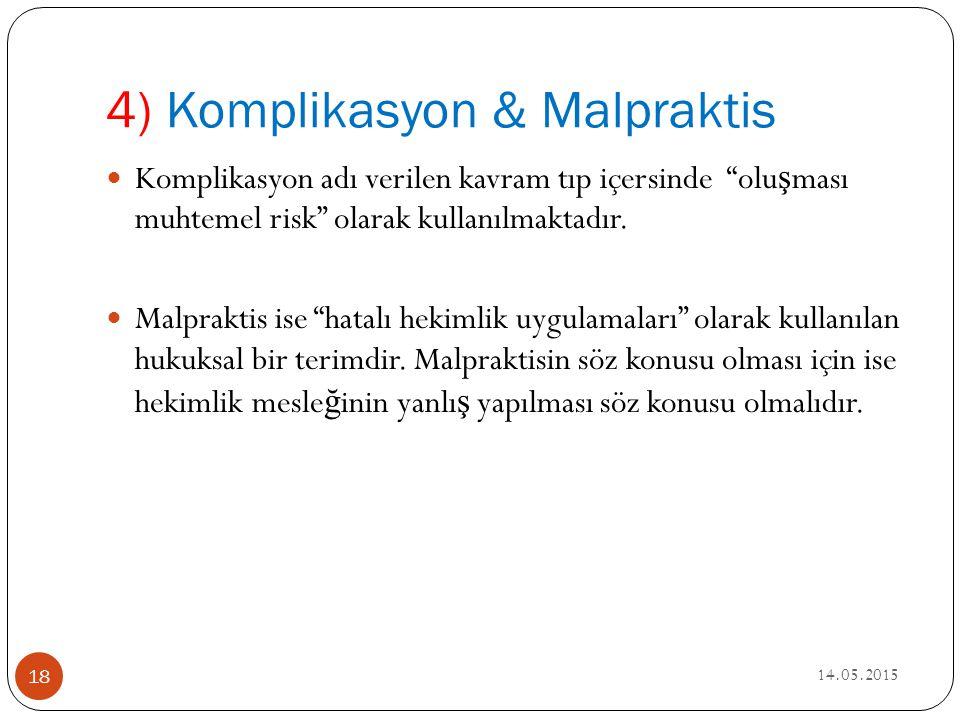 4) Komplikasyon & Malpraktis