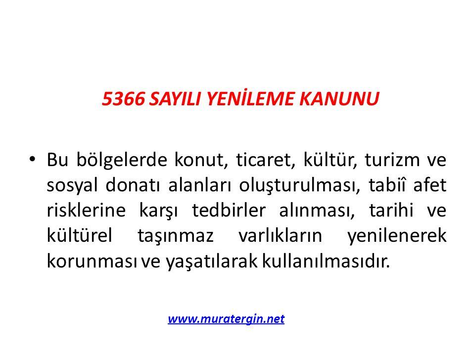 5366 SAYILI YENİLEME KANUNU