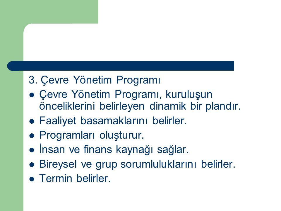 3. Çevre Yönetim Programı