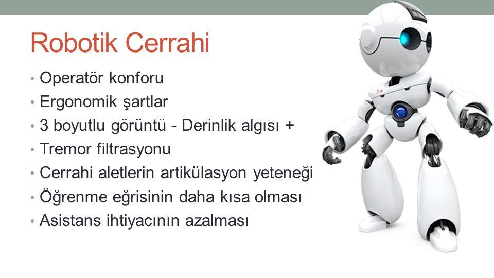 Robotik Cerrahi Operatör konforu Ergonomik şartlar