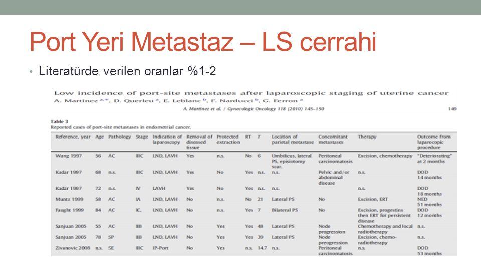 Port Yeri Metastaz – LS cerrahi
