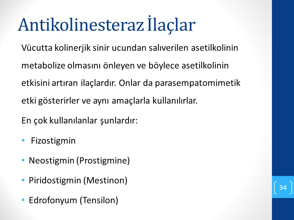 Antikolinesteraz İlaçlar