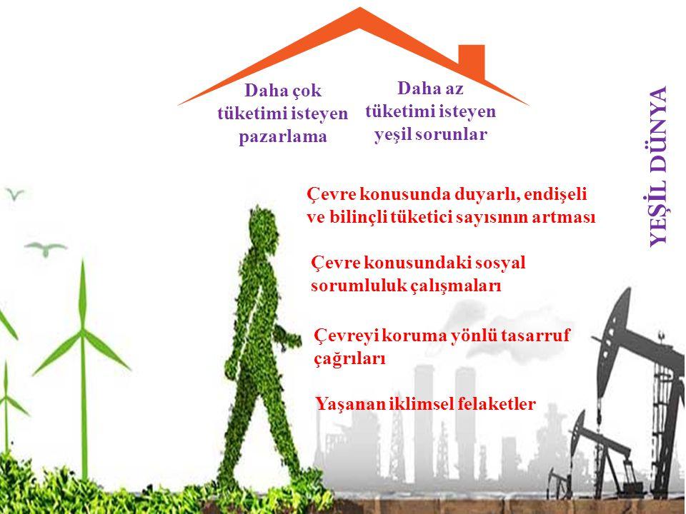 YEŞİL DÜNYA Daha az tüketimi isteyen yeşil sorunlar