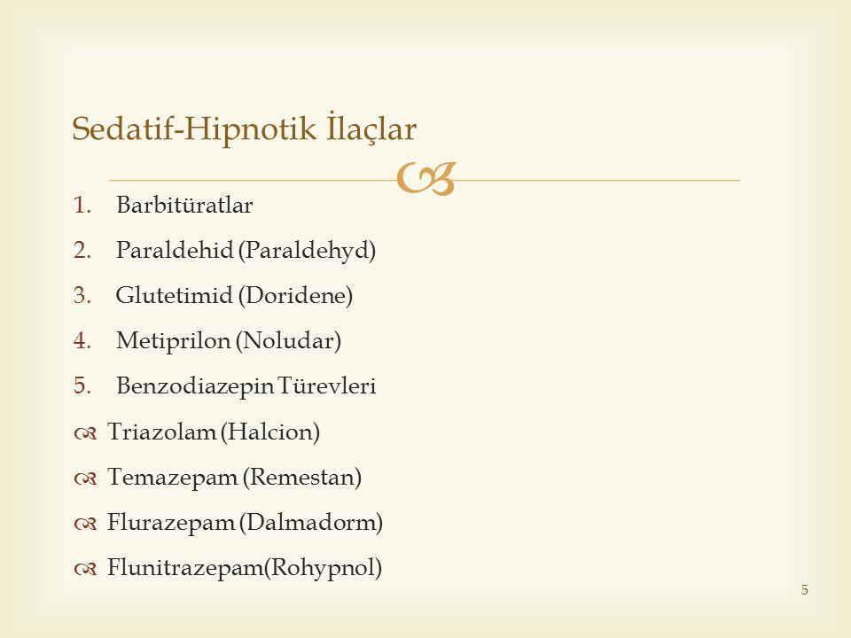 Sedatif-Hipnotik İlaçlar
