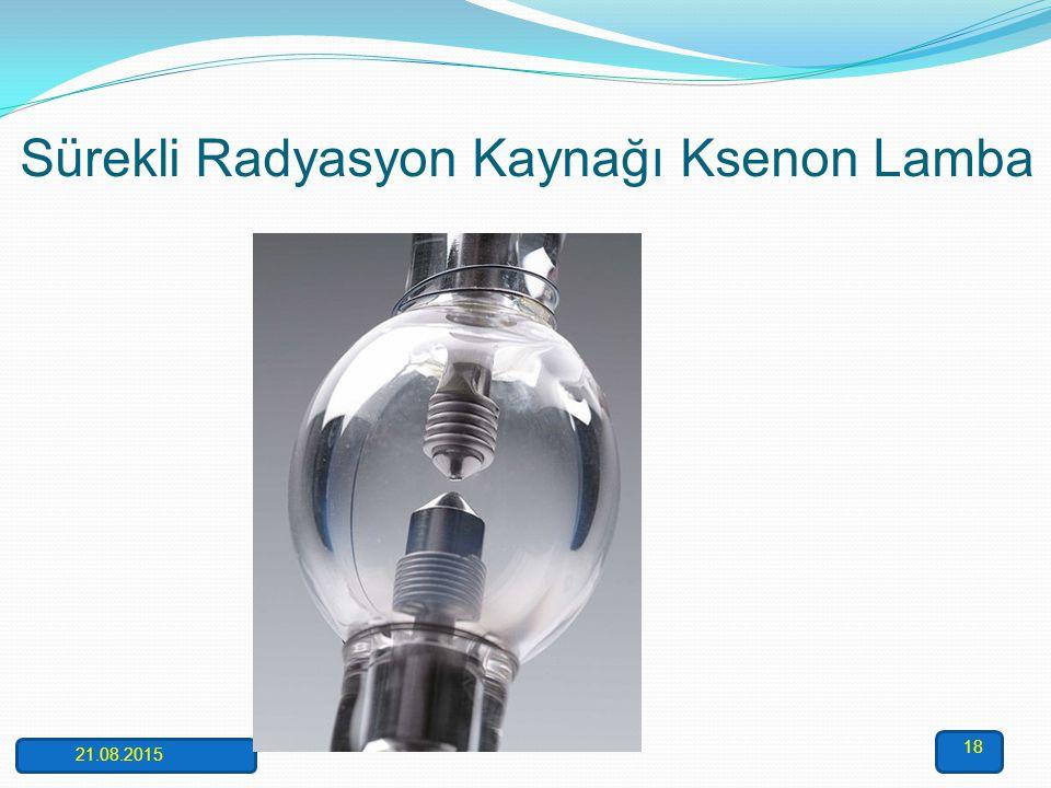 Sürekli Radyasyon Kaynağı Ksenon Lamba