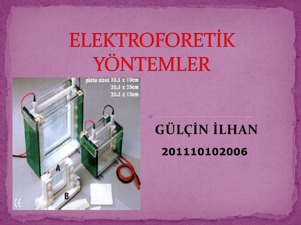 ELEKTROFORETİK YÖNTEMLER