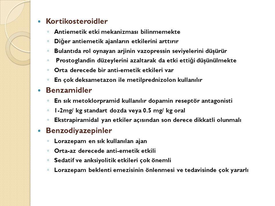 Kortikosteroidler Benzamidler Benzodiyazepinler