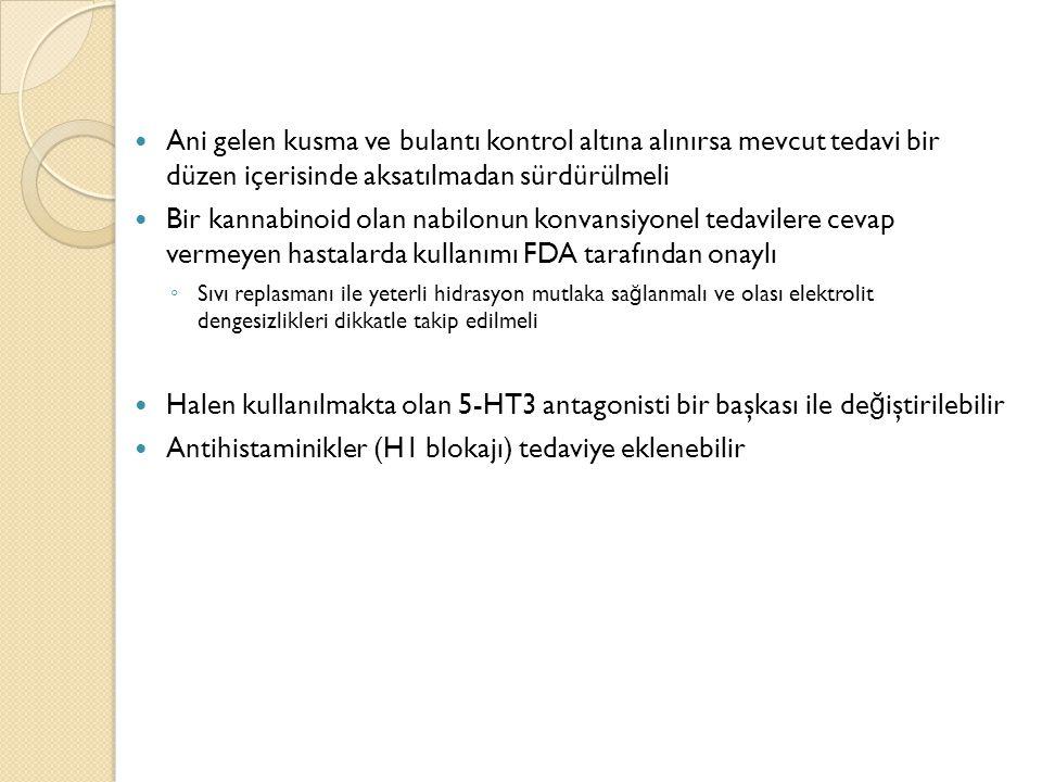 Antihistaminikler (H1 blokajı) tedaviye eklenebilir