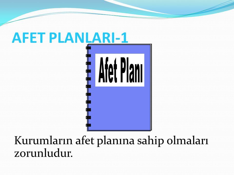 AFET PLANLARI-1 Afet Planı