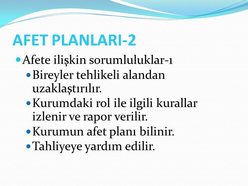 AFET PLANLARI-2 Afete ilişkin sorumluluklar-1
