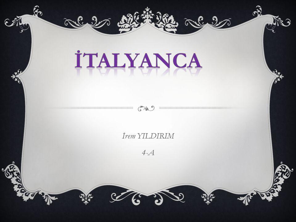 İtalyanca İrem YILDIRIM 4-A