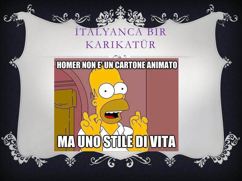 İtalyanca bir karikatür