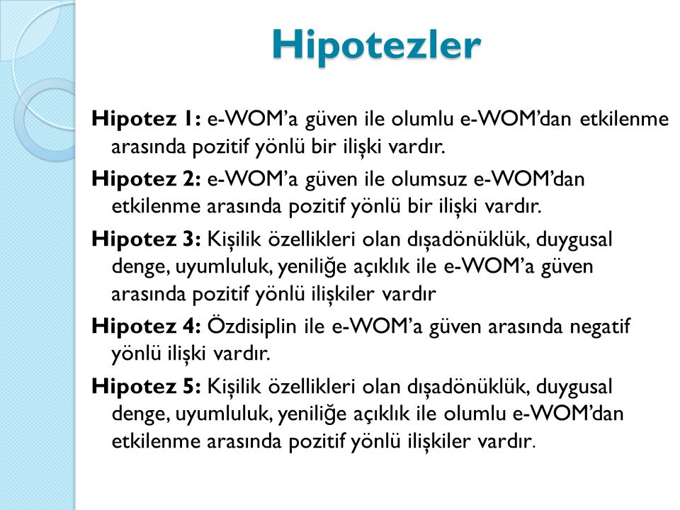 Hipotezler