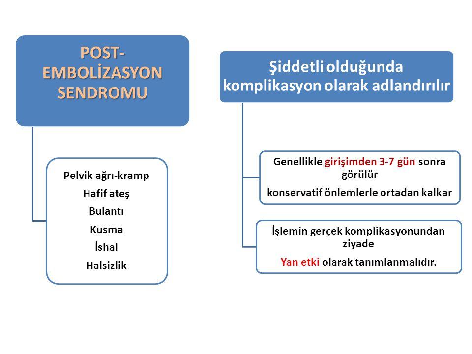 POST- EMBOLİZASYON SENDROMU