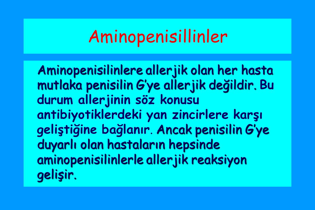 Aminopenisillinler