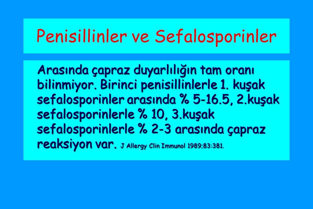 Penisillinler ve Sefalosporinler