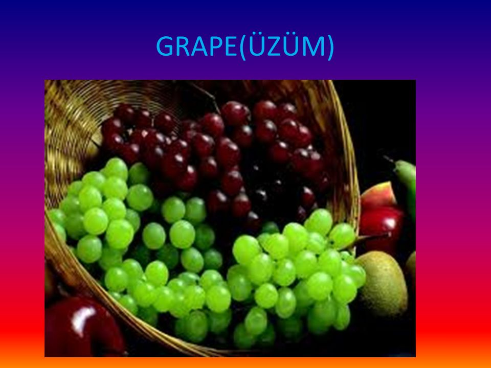 GRAPE(ÜZÜM)