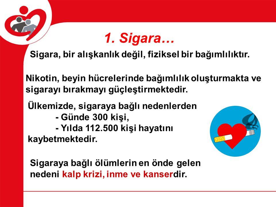 Sigara, bir alışkanlık değil, fiziksel bir bağımlılıktır.