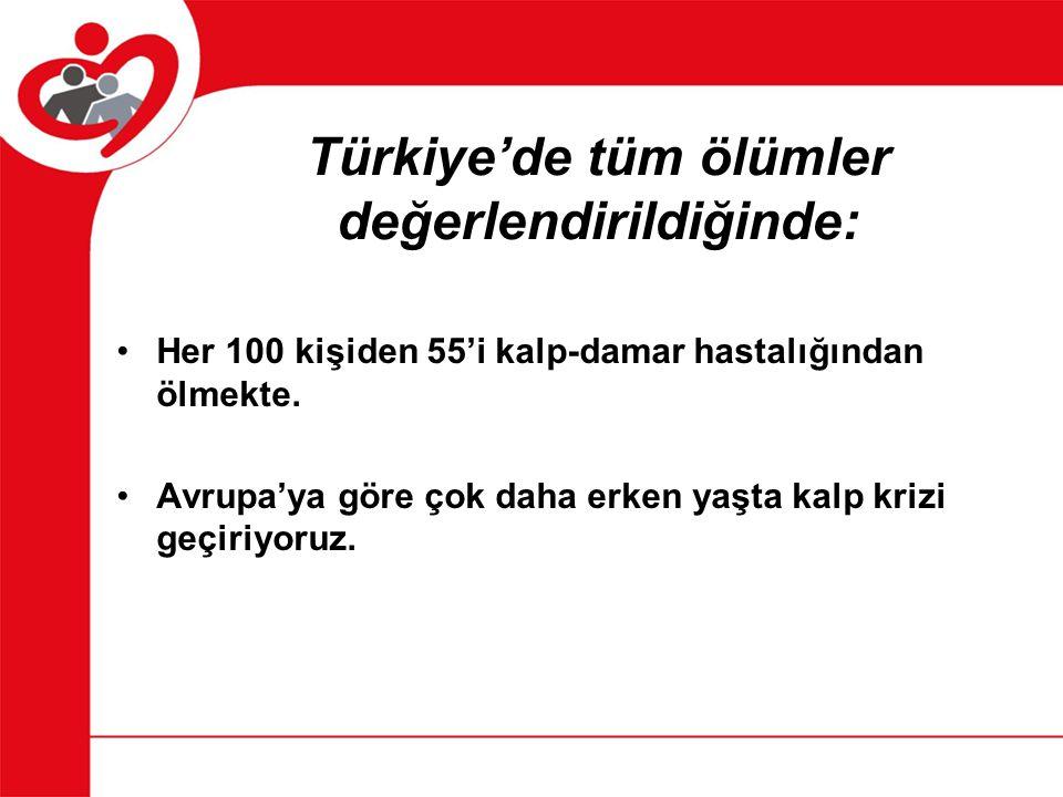 Türkiye'de tüm ölümler değerlendirildiğinde: