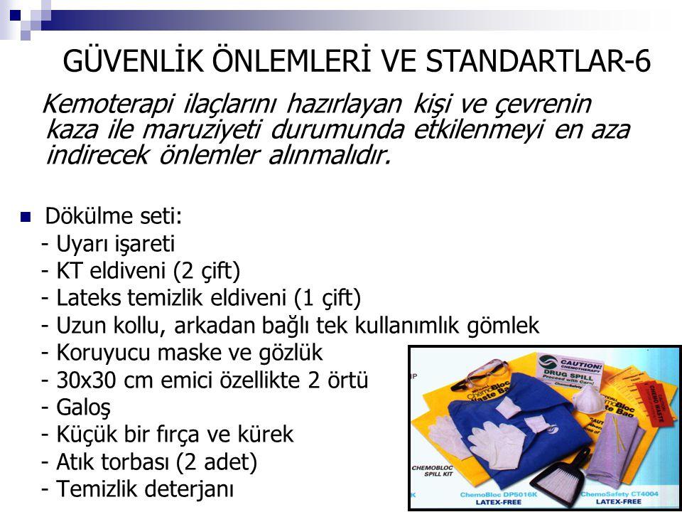 GÜVENLİK ÖNLEMLERİ VE STANDARTLAR-6