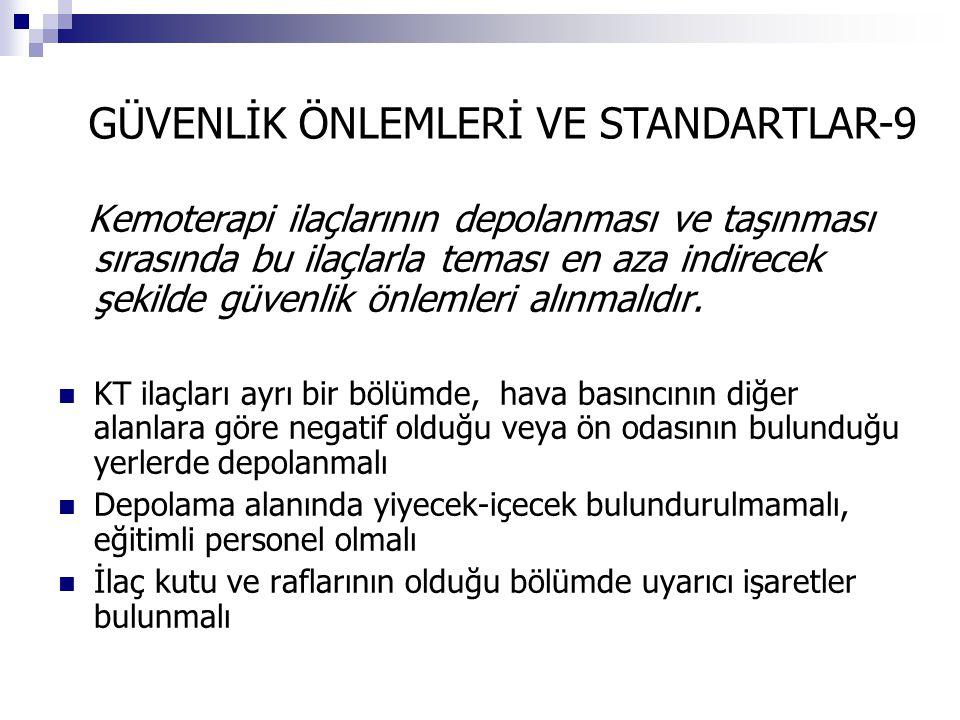 GÜVENLİK ÖNLEMLERİ VE STANDARTLAR-9