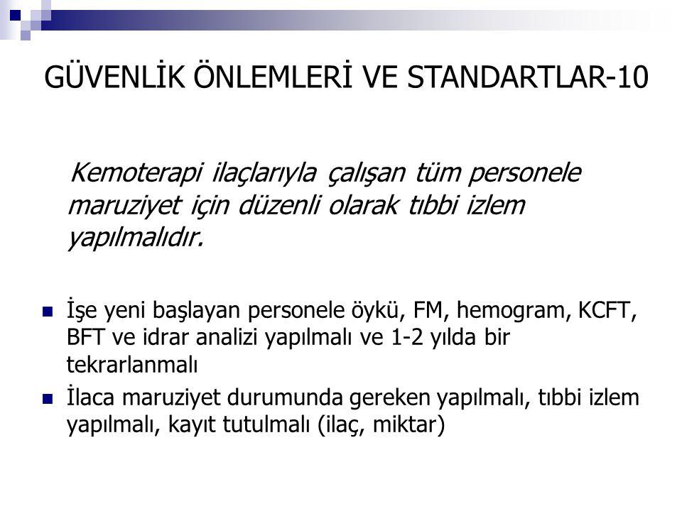 GÜVENLİK ÖNLEMLERİ VE STANDARTLAR-10