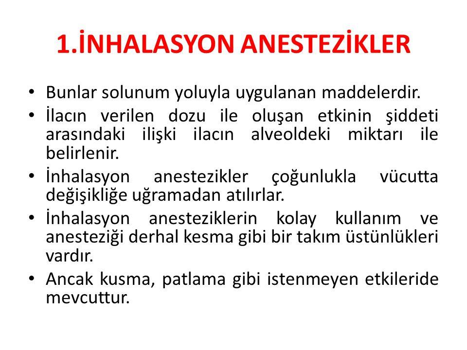 1.İNHALASYON ANESTEZİKLER