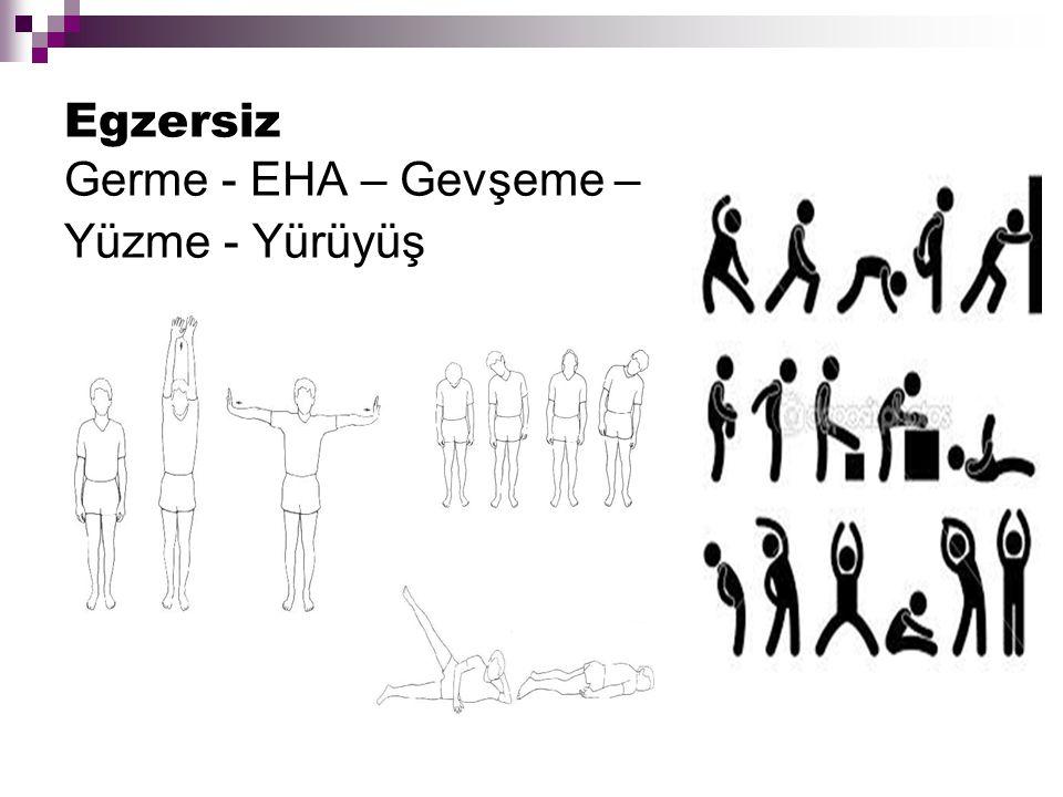 Egzersiz Germe - EHA – Gevşeme – Yüzme - Yürüyüş