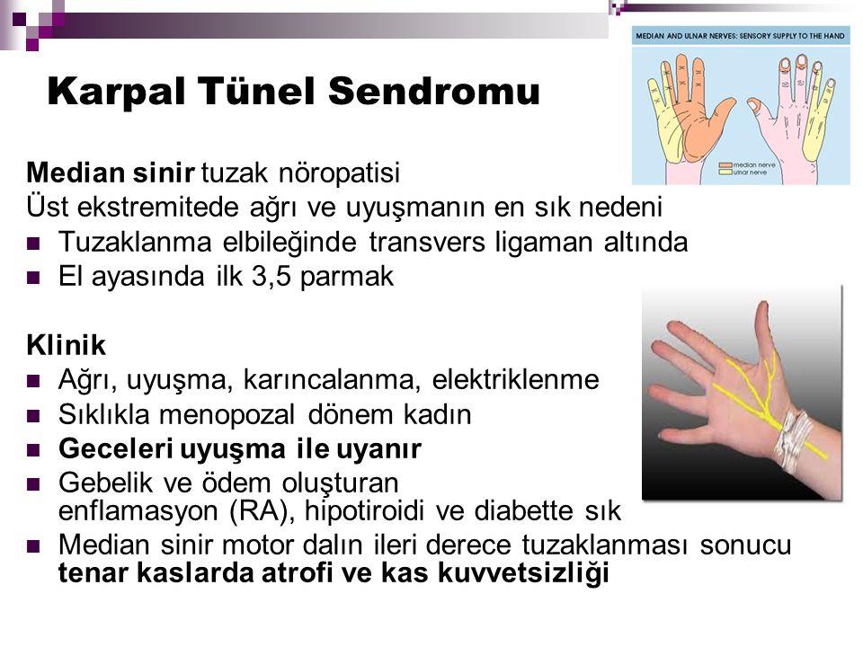 Karpal Tünel Sendromu Median sinir tuzak nöropatisi